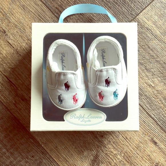 5a7f77ecd Newborn infant Ralph Lauren shoes